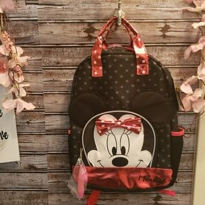 Minnie Mouse Full Size Backpack, New with Tags